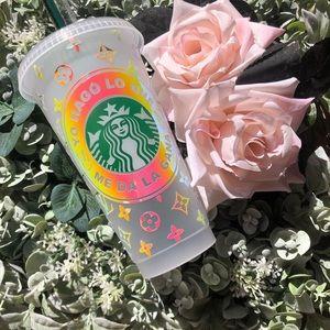 Custom badbunny Starbucks reusable cold cup